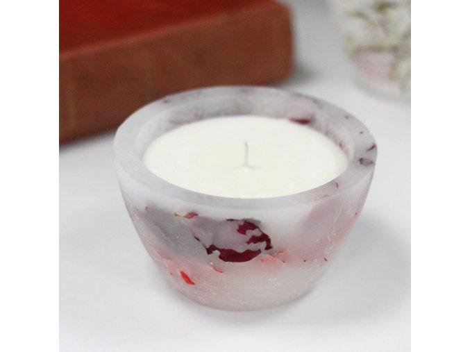 Luxusní sojová svíčka - rose