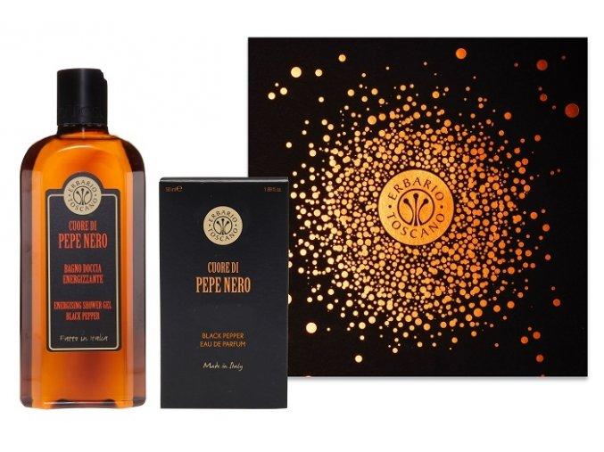 erbario toscano panska darkova sada cerny pepr sprchovy gel 250ml parfem 50ml