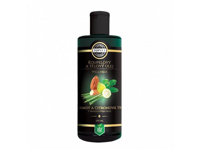 Koupelový a tělový olej - Bergamot a citronová tráva v mandlovém olejii 2
