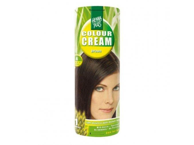 Přírodní barva na vlasy krémová HNĚDÁ 4  60ml