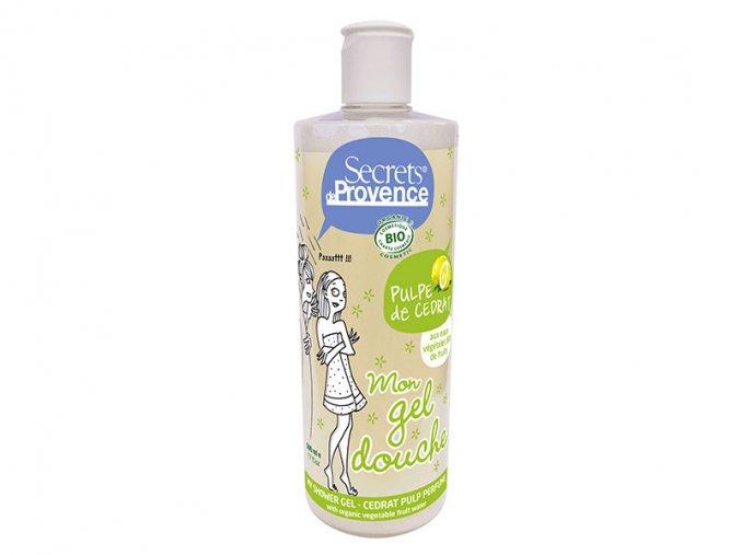 Secrets de Provence BIO Sprchový gel a Pěna do koupele Dužina z citronu, 500ml