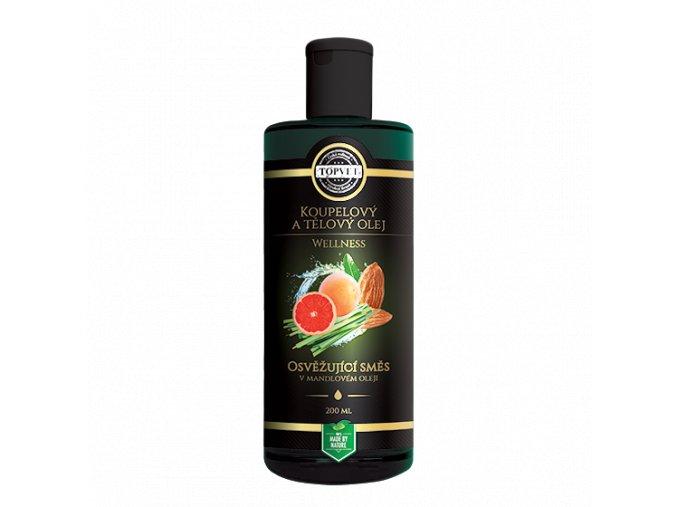 Koupelový a tělový olej - Osvěžující směs v mandlovém olejii 200 ml
