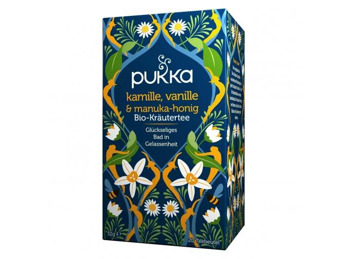 PUKKA Ajurvédský Medový čaj z heřmánku, vanilky a manuky 20 x 1,6g