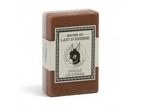 Mýdlo s oslím mlékem DUO - Chocolat/Lait d´anesse (čokoláda/oslí mléko) 125g
