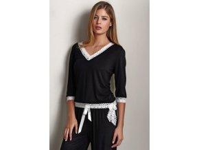 Dámské bambusové pyžamo ROZALIE - černé