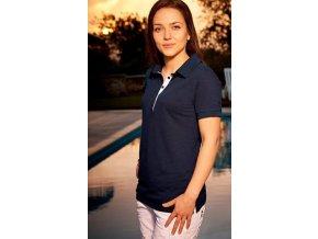 Dámské bambusové polo tričko - námořnická modř