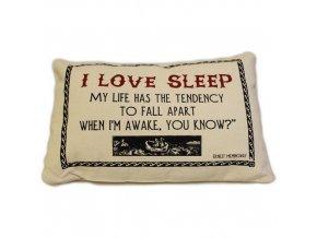 """Bavlněný povlak na polštář """"I LOVE SLEEP"""""""