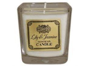 Bamboo sojová vonná svíčka - Lilie a Jasmín