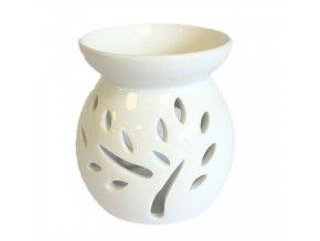Bílá keramická aroma lampa - strom