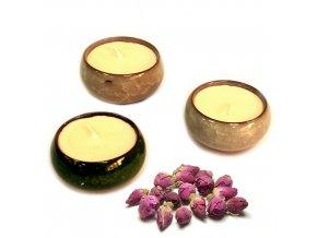Čajové vonné svíčky - sada - Růžový čaj