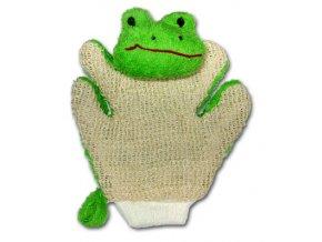 mycí rukavice žába