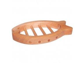 Dřevěná miska na mýdlo - ryba