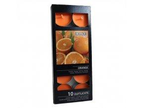 Vonné čajové svíčky Pomeranč  box 10ks