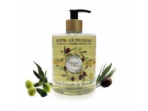 Tekuté mýdlo z Marseille s BIO olivovým olejem 500ml