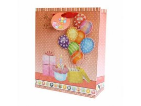 Dárková taška balónky - Vše nejlepší k narozeninám