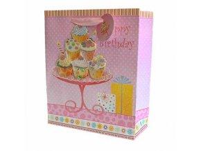 Dárková taška cakes - Vše nejlepší k narozeninám