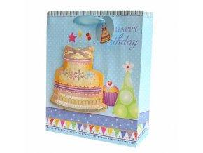 Dárková taška dort - Vše nejlepší k narozeninám