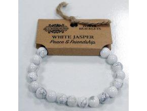 Náramek - Bílý Jaspis