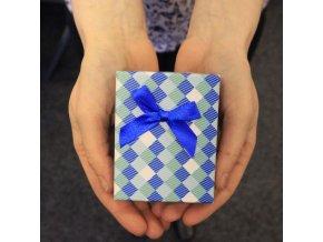 Dárkový box na náramek - modrý