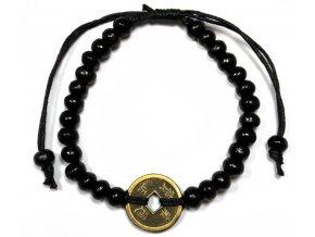 Náramek pro štěstí Feng Shui - černý