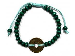 Náramek pro štěstí Feng Shui - zelený