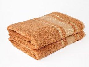 Bambusový ručník Bamboo LIFE - hnědý