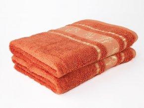 Bambusový ručník Bamboo LIFE - terakota