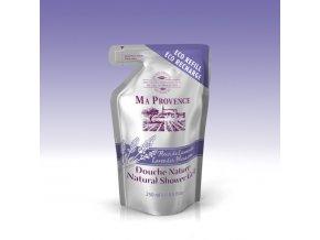 Pravý přírodní sprchový gel s vůní LEVANDULE-náhradní balení, 250ml