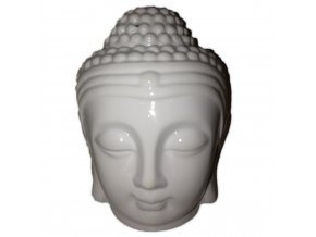 Aroma lampa - hlava Budhy bílá