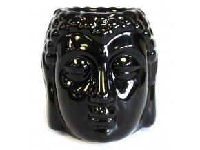Aroma lampa - hlava Budhy II - Černá