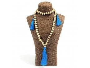 Korálkový náhrdelník z Bali - modrý MAUR.cz