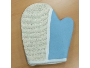 Mycí rukavice z juty-modrá