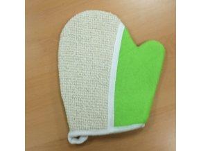Mycí rukavice z juty-zelená