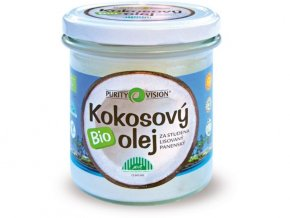 BIO Panenský kokosový olej lisovaný za studena 300ml