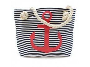 Plážová taška -  červená kotva
