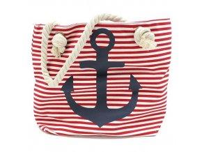 Plážová taška -  modrá kotva
