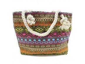 Plážová taška - Barevné tóny z Bali