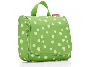 Kosmetická taška Toiletbag spots green