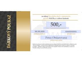 dárkový certifikát MAUR.cz 500,- Kč