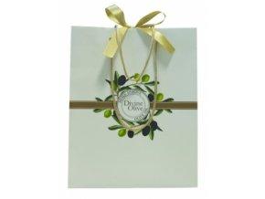 Dárková taška - oliva, střední
