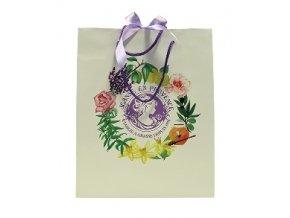 Dárková taška - bílá, střední, 24,5 x 30 cm