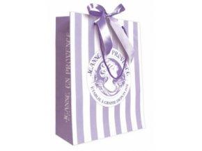 Dárková taška - fialová, střední 24,5 x 30 cm