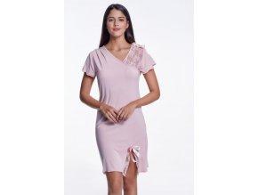 Dámská noční bambusová košilka ZARA - barva růžová