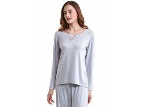 Dámské bambusové pyžamo SAHRA - barva stříbrná