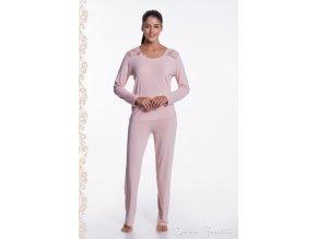 Dámské bambusové pyžamo PAOLA - barva růžová