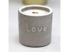 Dřevěná sojová svíčka LOVE - Fíky a rybíz