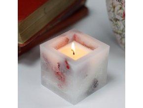 Luxusní sojová svíčka čtverec - rose