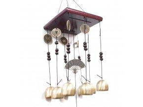 Zvonkohra Feng Shui - Čtverec - 8 zvonků
