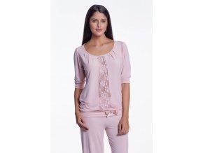 Dámské bambusové pyžamo SERENA - barva růžová