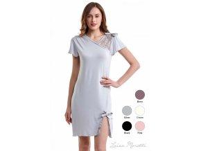 Dámská noční bambusová košilka ZARA - barva stříbrná